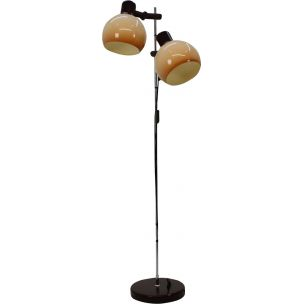 Vintage black floorlamp in iron and plastic 1960