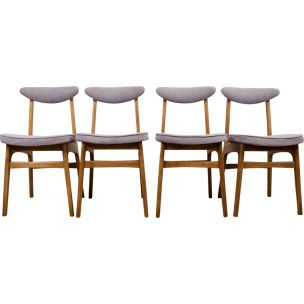 Set of 4 vintage Dining Chairs Model 200 - 190 by R. T. Hałas