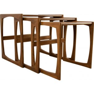 Vintage nesting tables in teak by R. Bennett from G-Plan 1970s