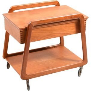 Vintage sewing table in teak Denmark 1960s
