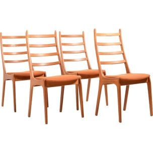 Set of 4 vintage Kai Kristiansen chairs in teak