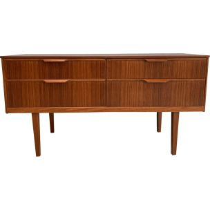 Vintage sideboard in teak by Frank Guille for Austinsuite London,1960