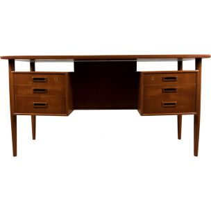 Vintage desk in teak  by A. Vodder, 1960