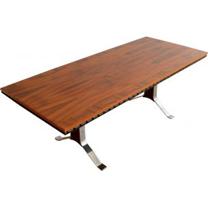 Vintage rosewood dining table, Scandinavian, 1960
