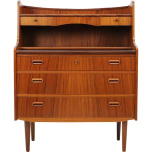 Vintage writing desk in teak Denmark 1960s