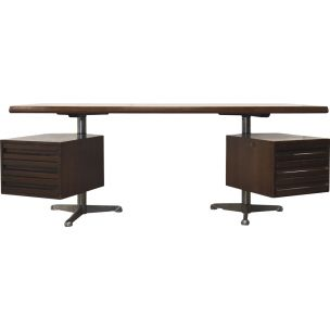 Vintage desk in rosewood T95 by Osvaldo Borsani for Tecno Milano 1960s