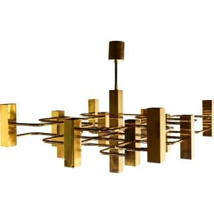Vintage chandelier by Gaetano Sciolari for Boulanger 1970s