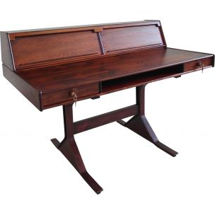 Vintage Gianfranco Frattini rosewood writing desk for Benini