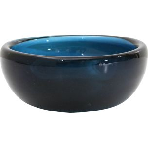 Vintage blue Murano glass bowl by Venni