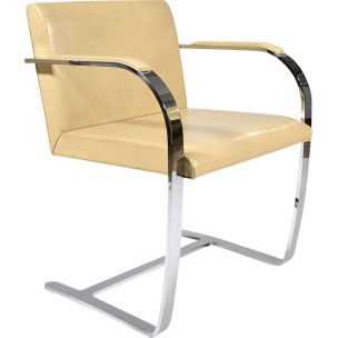 Vintage Brno flat bar chair by Ludwig Mies Van Der Rohe For Knoll