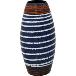 Vintage german vase for Scheurich in blue ceramics 1960