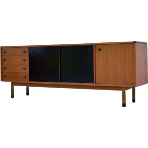 Vintage italian sideboard by Parisi for Stildomus in teak and rosewood 1960