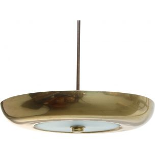 Vintage ceiling pendant lamp in brass 1970