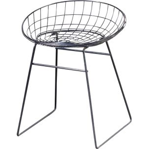 Vintage 'KM05 stool for Pastoe in black metal 1950