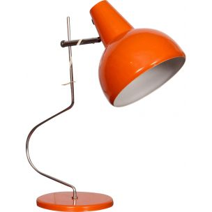 Vintage lamp for Likodov in orange metal 1960