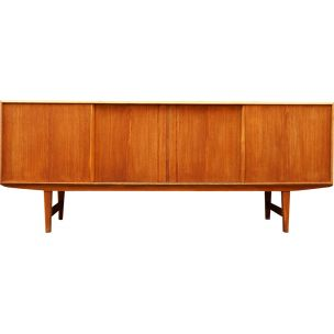 Vintage light oak sideboard by E.W. Bach 1960
