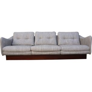 Vintage dachshund 3 seater sofa by Michel Mortier 1970