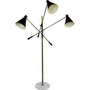Vintage 3 arm swivel floor lamp 1950