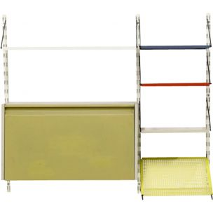Vintage dutch wall system for Pilastro in metal 1950