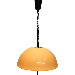 Vintage hanging lamp Guzzini Space Age by Meblo Italy 1970s