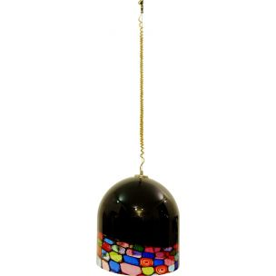 Vintage hanging lamp in Murano glass Italy 1960s