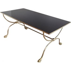 Vintage coffee table in brass,1940