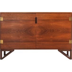 Vintage scandinavian cabinet for Lankilde in rosewood and brass 1950s