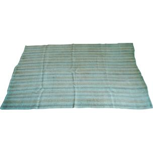 Blue vintage carpet with Turkish origin