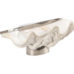 Vintage bowl in giant clam shell by Gabrielle Crespi, 1950