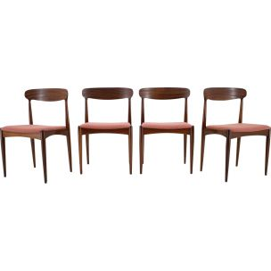 Set of 4 vintage dining chairs in teak by Johannes Andersen 1960s