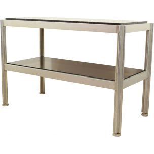 Vintage aluminium console by George Ciancimino for Moblier International, 1970