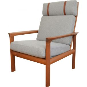 Vintage armchair in teak by Sven Ellekaer for Komfort, Denmark 1960s