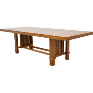 Vintage Taliesin table for Cassina in cherrywood 1980s