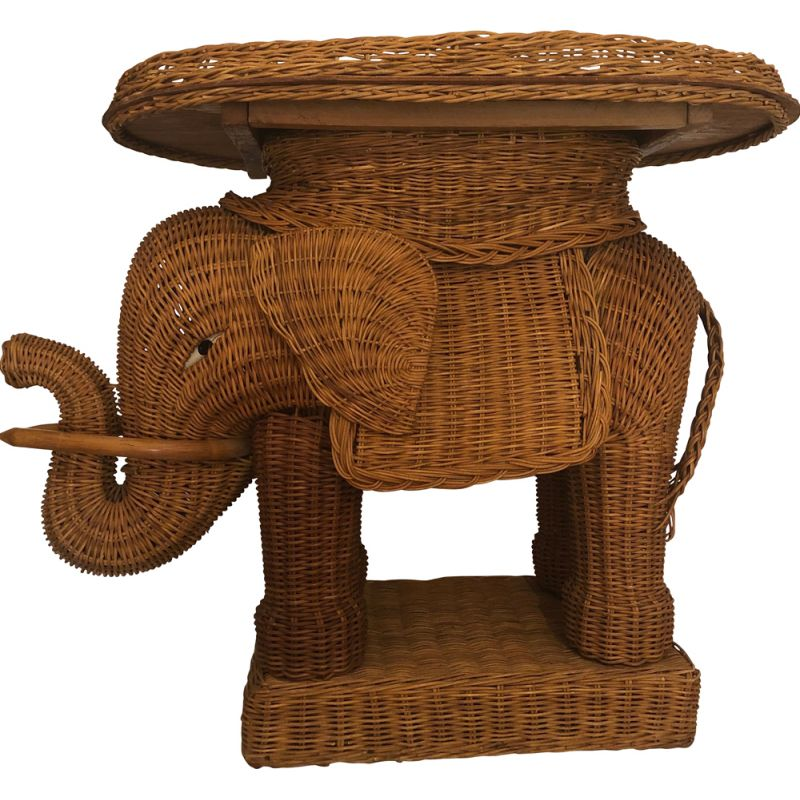 Awe Inspiring French Vintage Elephant In Rattan And Wicker 1960 Forskolin Free Trial Chair Design Images Forskolin Free Trialorg