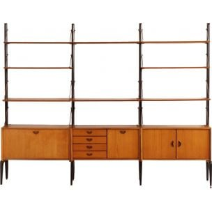 Vintage Wall Unit in teak by Louis van Teeffelen for Wébé, 1960s