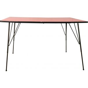 Vintage dining table industrial by Rudolf Wolf for Elsrijk 1950s