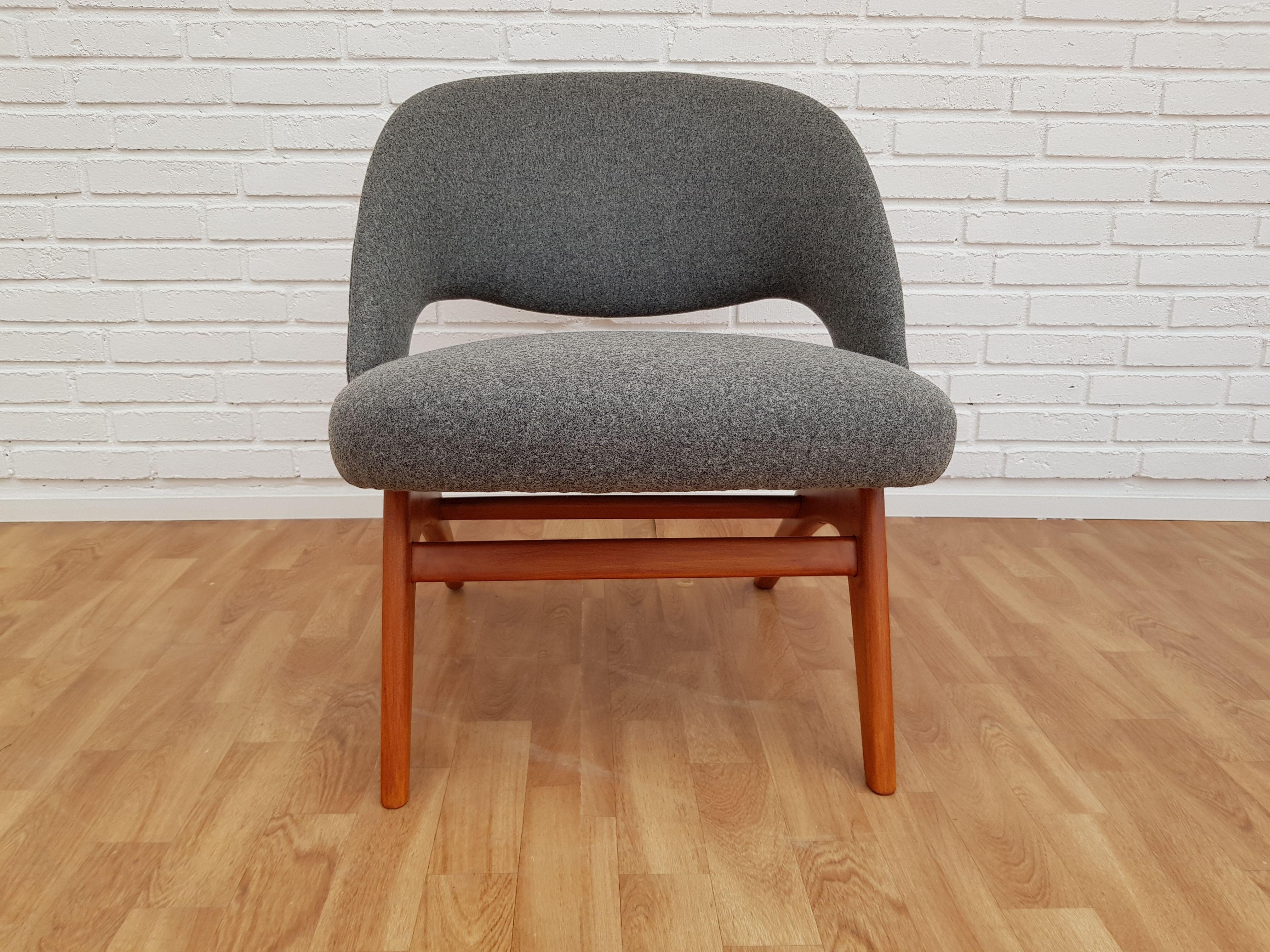 Vintage Scandinavian armchair in wool - Design Market