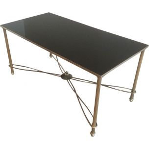 French vintage metal coffee table 1960