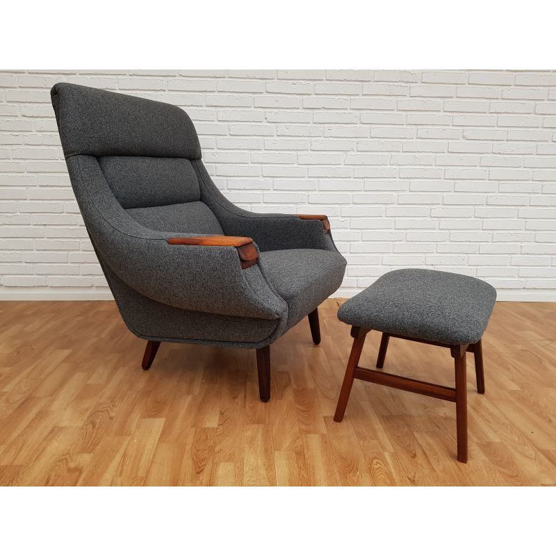 Terrific Vintage Lounge Chair Ottoman By Henry Walter Klein For Bramin Danish 60S Beatyapartments Chair Design Images Beatyapartmentscom