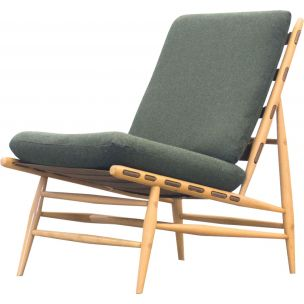 Vintage armchair Model 427 in beech wood by Lucien Randolph Ercolani
