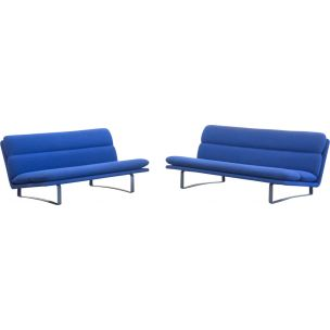 Vintage set of 3 seaters sofa C6833 & C6837 for Artifort  by Kho Liang