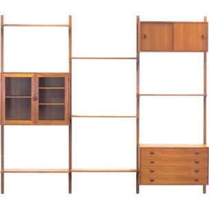 Vintage teak wall unit shelves by Rud Thygesen & Johnny Sørensen for Hansen & Guldborg