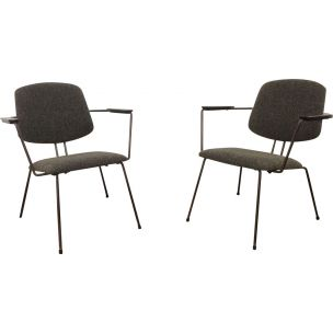 Vintage set of 2 chairs by Rudolf Wolf for Elsrijk 1956