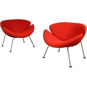 Pair of Orange Slice armchairs by Pierre Paulin for Artifort 1950