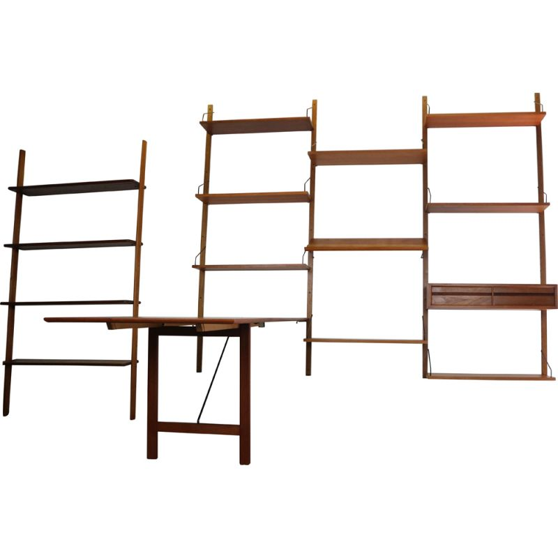 Vintage Danish Modern teak wall unit by Poul Cadovius for Cado