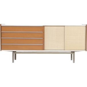 Vintage sideboard for EFA in mahogany and aluminium 1960