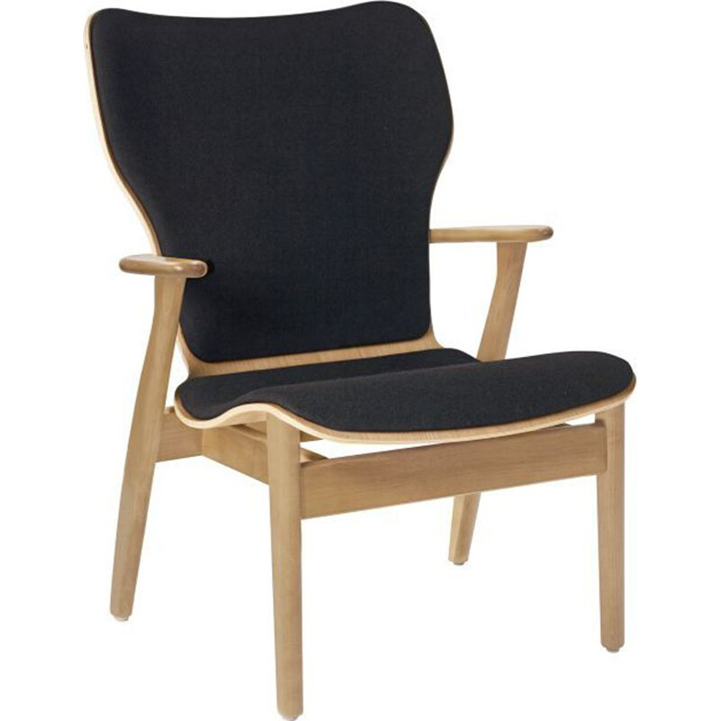 "Lounge chair ARTEK ""Domus"", fabric, by Ilmari Tapiovaara"