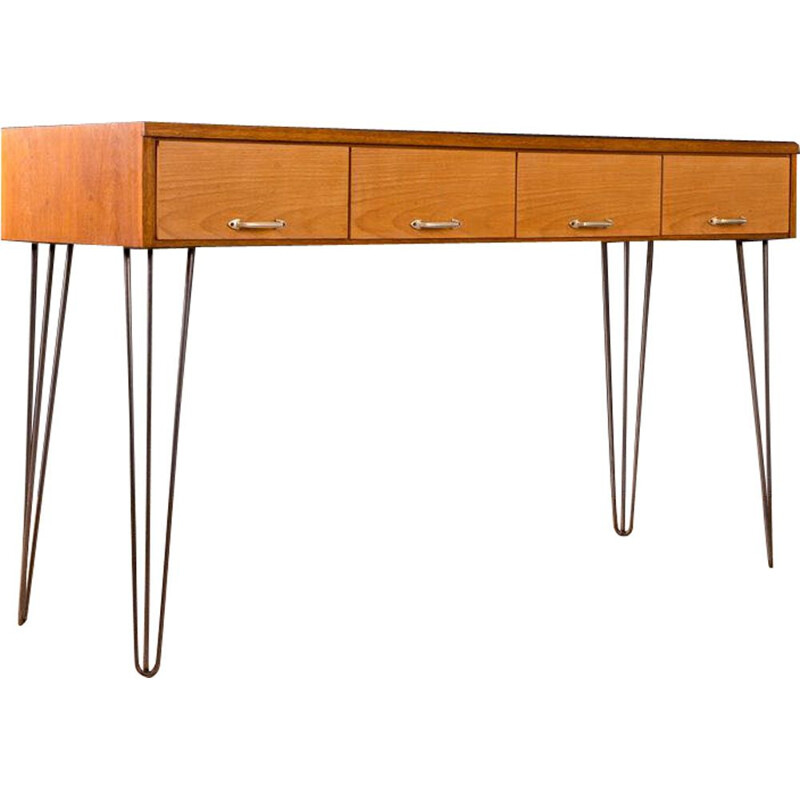 Vintage desk for Rürup in oakwood and glass 1950s