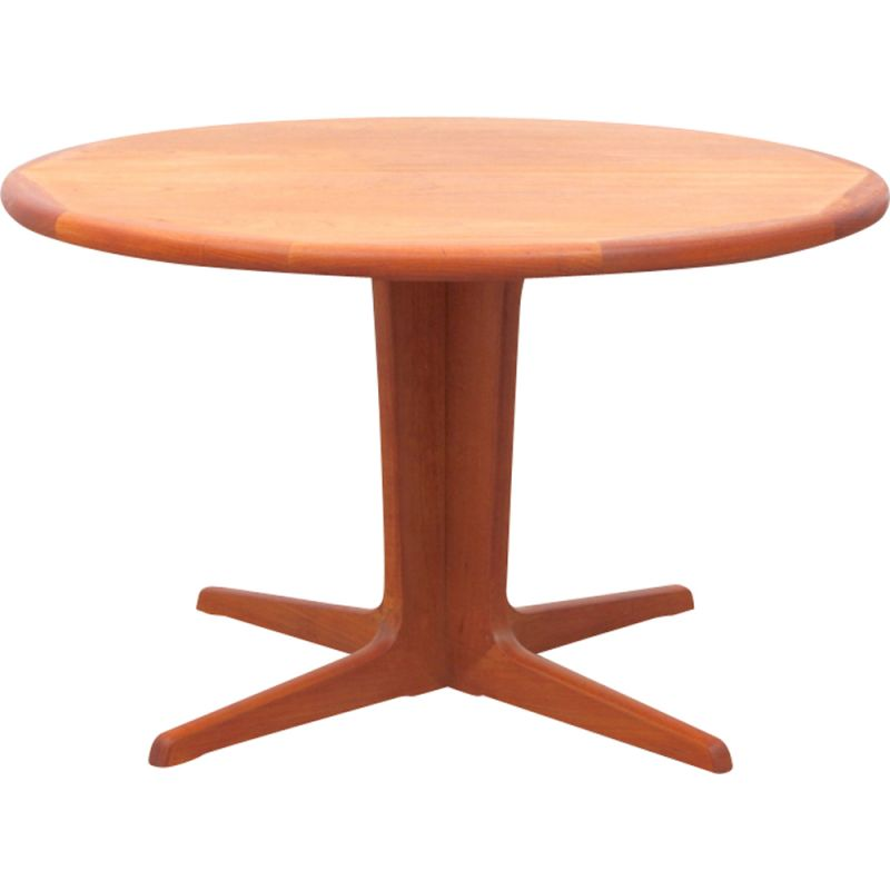 Round Vintage Teak Dining Table With 2 Extensions Design Market