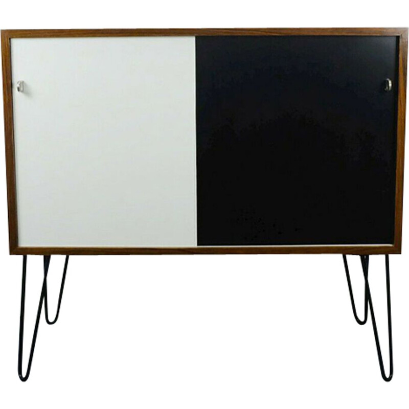 Vintage german sideboard in rosewood wih sliding doors and hairpin legs 1960s